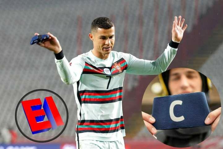 Subastan en 64 mil euros cinta de capitán que fue tirada por Cristiano Ronaldo. Dinero servirá para operación de bebé de 6 meses
