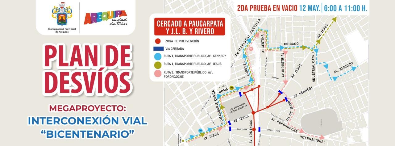 """Este miércoles 12 de mayo se realizará segunda prueba en vacío para la construcción de la interconexión vial """"Bicentenario"""""""