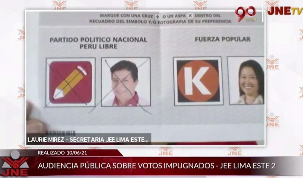 Voto a favor de PC fue invalidado por doble marcación pese a que según norma, es válido marcar la foto y el símbolo