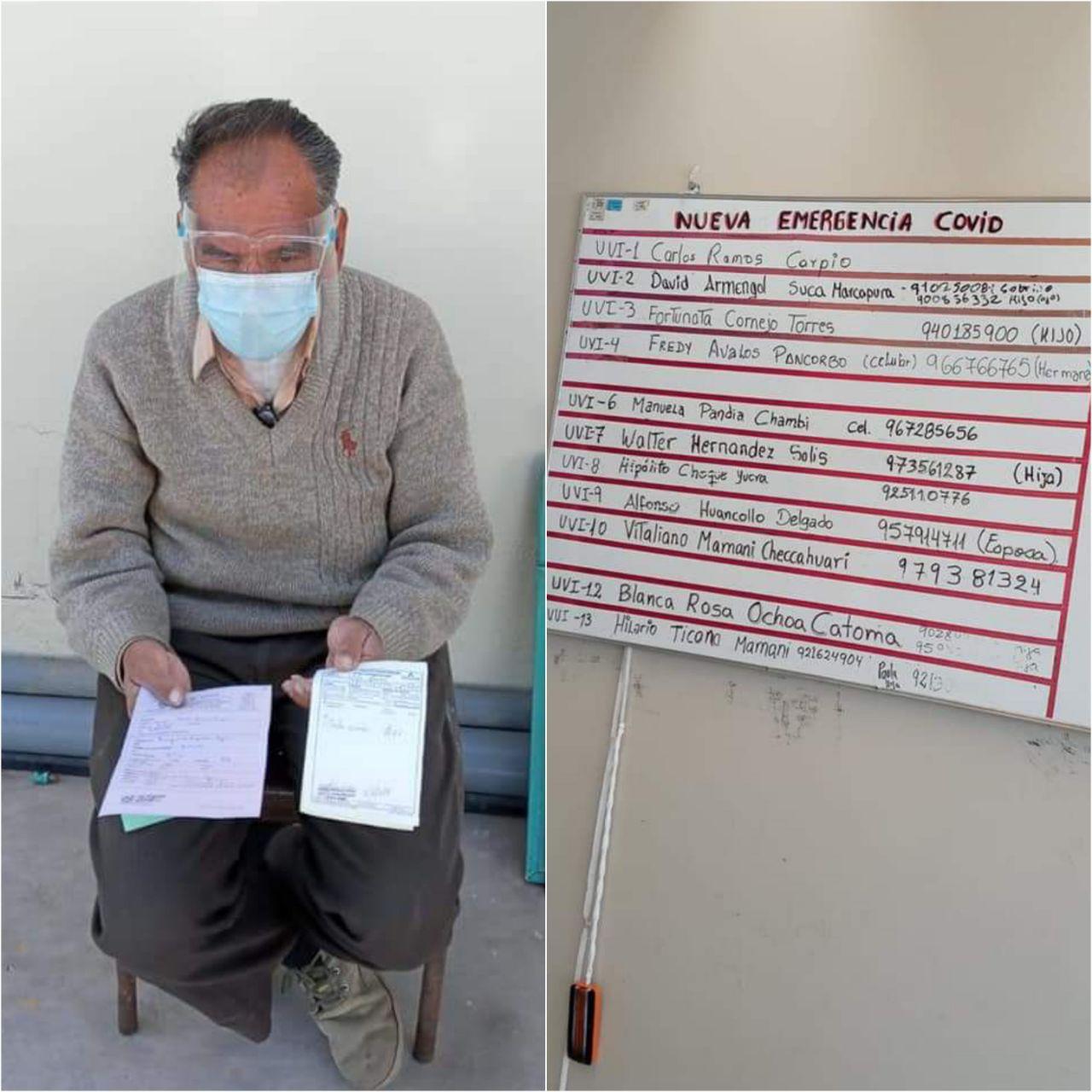 #COMPARTE Abuelito de 89 años necesita apoyo en alimentos y medicinas para él y su único hijo que se encuentra grave con coronavirus