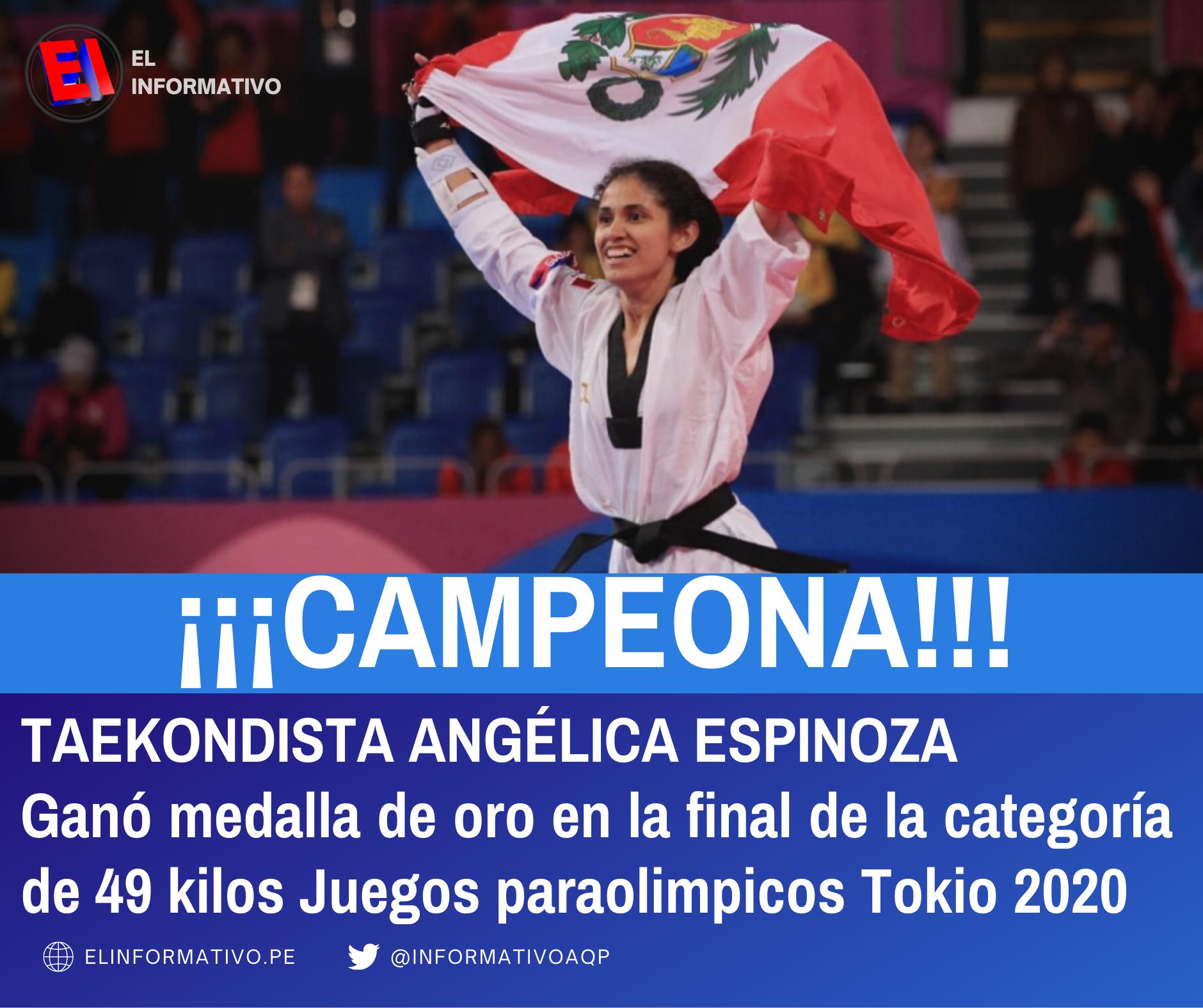Deportista Peruana gana medalla de Oro en Juegos Paralímpicos de Tokio